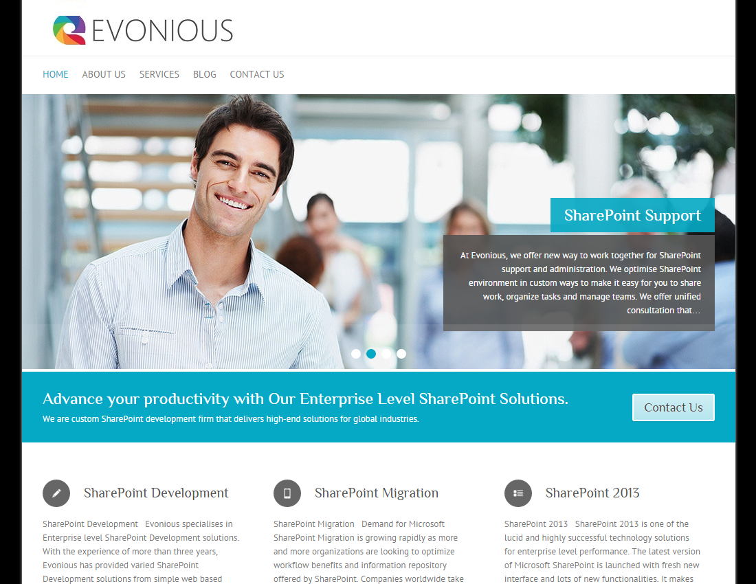 Evonious Website